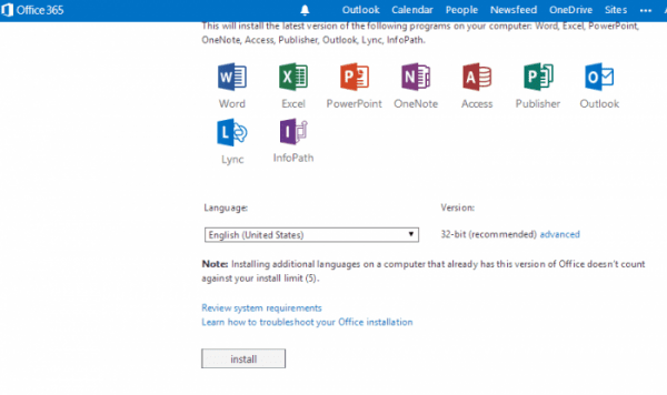 office 365 software download