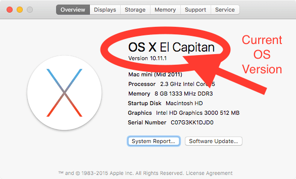 Current-osx-version