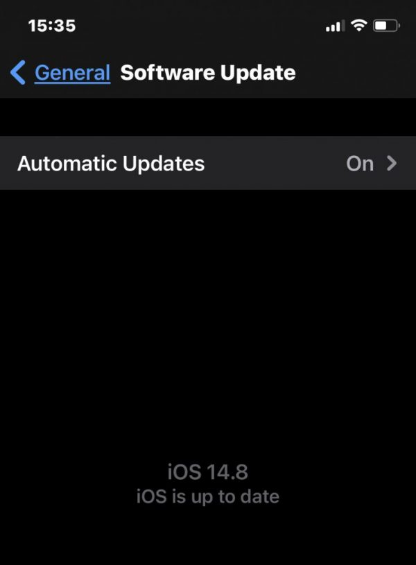 iOS is up to date
