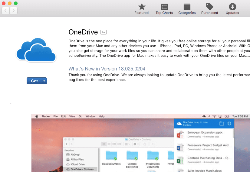 Get Onedrive for Mac