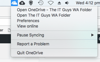 MacOS Onedrive for Mac choices