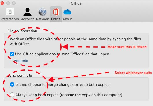 OneDrive for Mac Preferences - Office