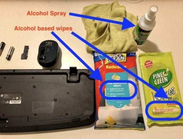 alcohol cleaning products