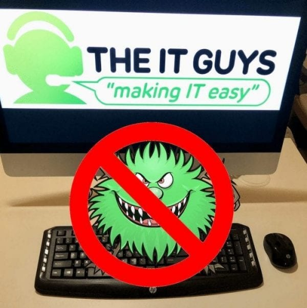 removing germs and human viruses from computer equipment