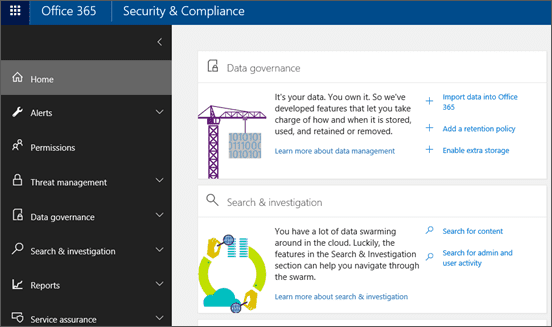 exchange security and compliance
