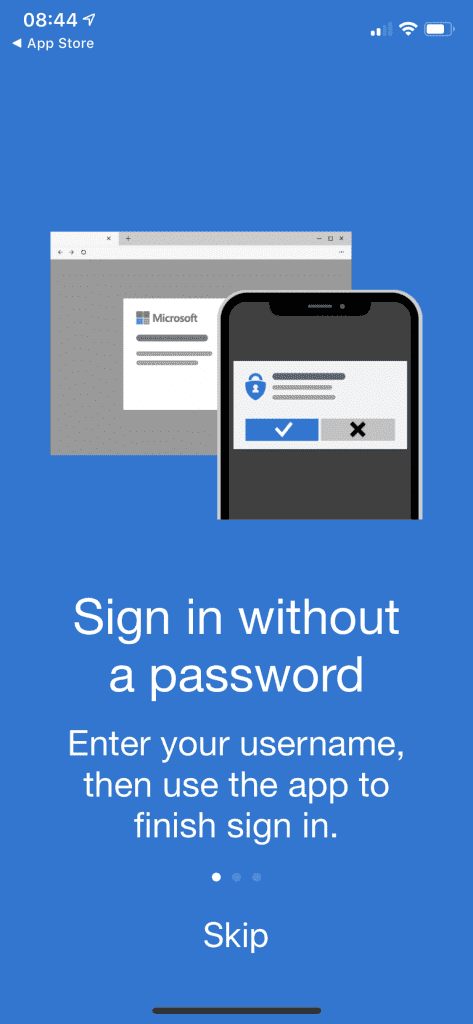 sign in to authenticator app